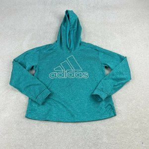 adidas Climawarm Pullover Hoodie Womens M Teal